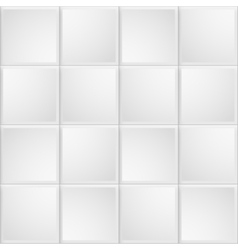 White tile texture seamless background vector image