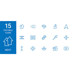 15 next icons vector image