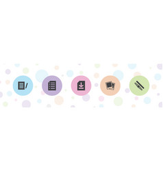 5 file icons vector