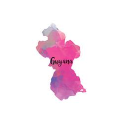 Abstract guyana map vector