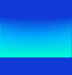 abstract halftone perspective blue gradient vector image