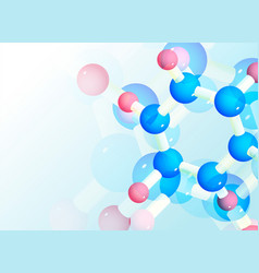 Abstract molecules background for science or vector