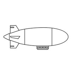 Airship balloon aerostat icon outline style vector