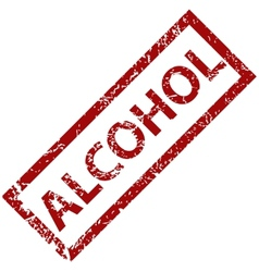 Alcogol rubber stamp vector image