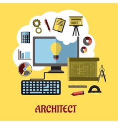 Architect or education concept vector image