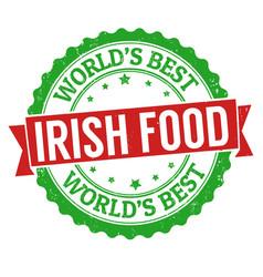 Authentic irish cuisine grunge rubber stamp vector