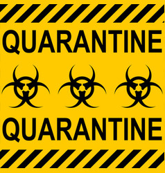 Background yellow black stripes quarantine zone vector