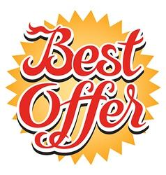 Best offer sticker vector