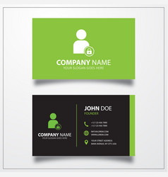 Block user icon business card template vector