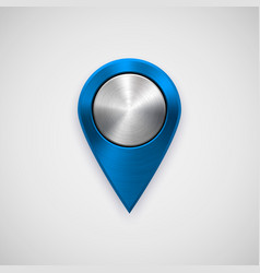 blue technology gps map pointer vector image