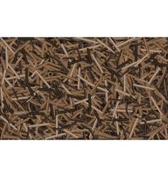 Brown wild rice pattern vector
