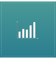 Business graph icon vector