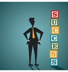 Businessman success vector image