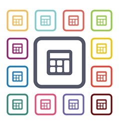Calculator flat icons set vector