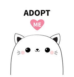Cat head face icon set adopt me cute cartoon vector