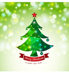 Christmas tree abstract card background vector image