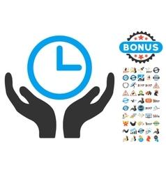 Clock Maintenance Icon With 2017 Year Bonus vector