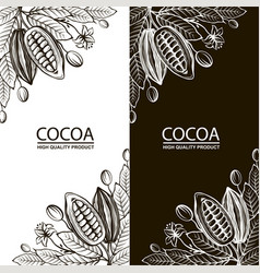cocoa packages set vector image