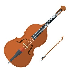 colored flat style contrabass music instrument vector image