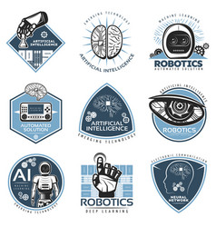 Colorful futuristic innovations labels collection vector