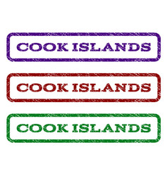 Cook islands watermark stamp vector