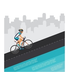 Cycling competition race poster cyclist riding vector