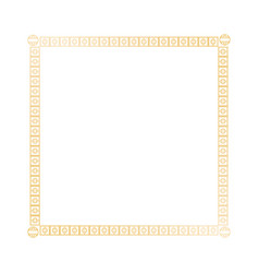 decoration square golden frame design image vector image