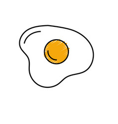 Delicious fried egg with natural ingredients vector