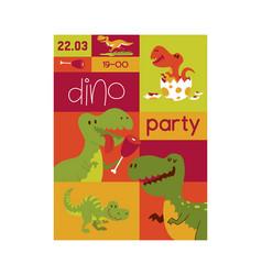 dinosaur seamless pattern kids vector image