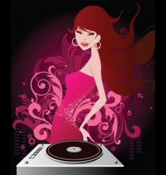 dj beauty vector image