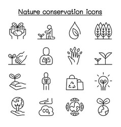 Eco friendly nature conservation environmentalist vector