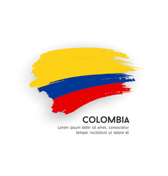 flag colombia brush stroke design isolat vector image