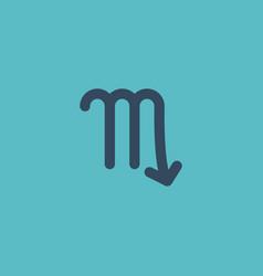 flat icon scorpion element of vector image