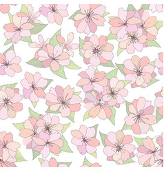 Floral seamless pattern flower background spring vector