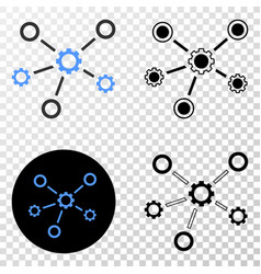 gear links eps icon with contour version vector image
