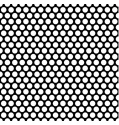 Grating pattern with grid mesh of circles vector