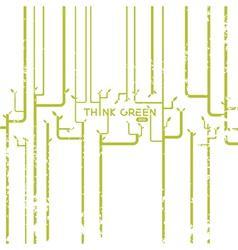 Green barcode vector