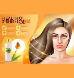 Hair cosmetics background vector