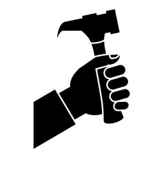 Hammer tool icon vector