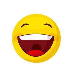happy face cartoon icon vector image