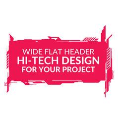 Hi-tech wide element vector