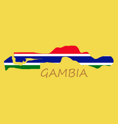 High detailed map of gambia eps 10 vector
