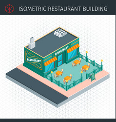 Isometric restaurant house vector