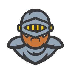 Knight sign crusader helmet vector