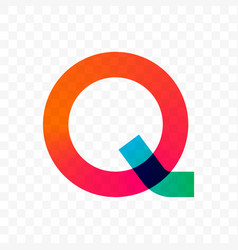 letter q gradient icon vector image