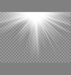 Light ray flare isolated on transparent background vector