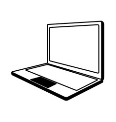line icon laptop cartoon vector image