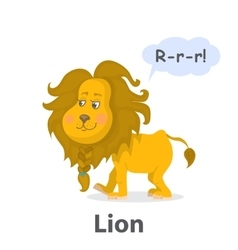 Lion illistration vector image