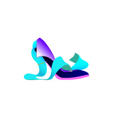logo business women shoe tie abstract creative vector image
