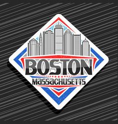 logo for boston vector image